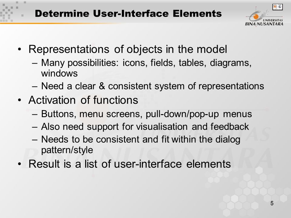 Determine User-Interface Elements