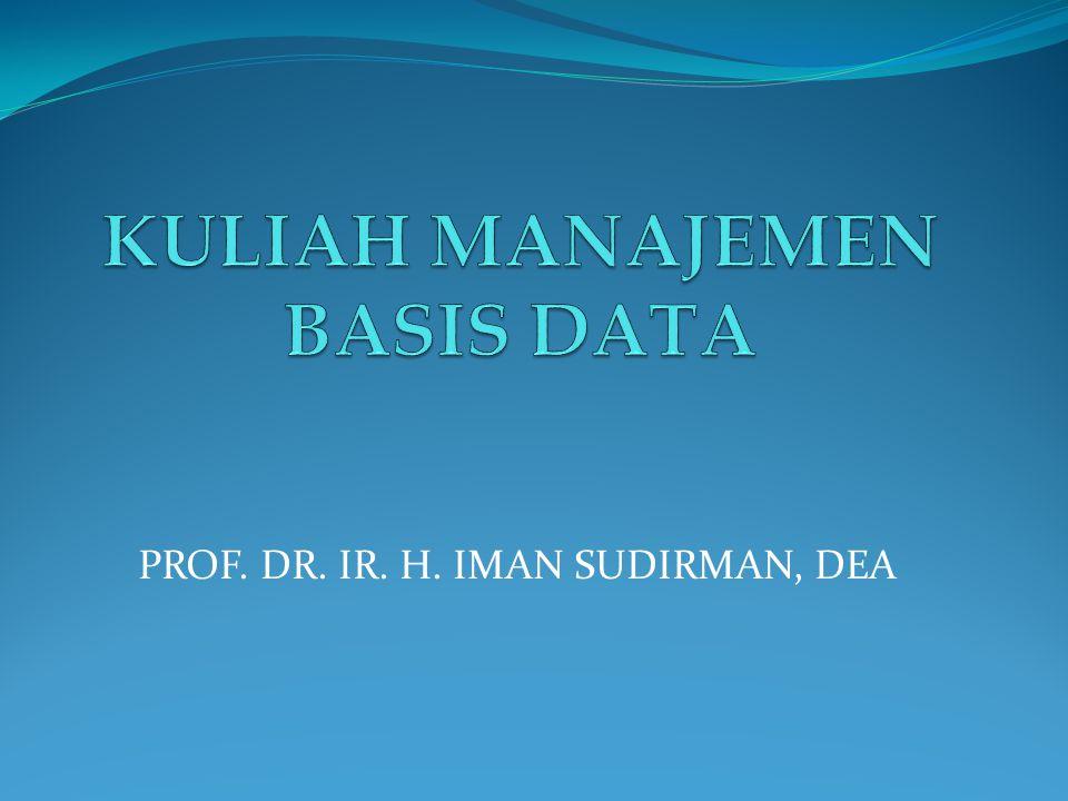 KULIAH MANAJEMEN BASIS DATA