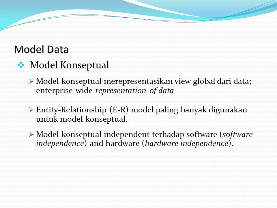 Model Data Model Konseptual
