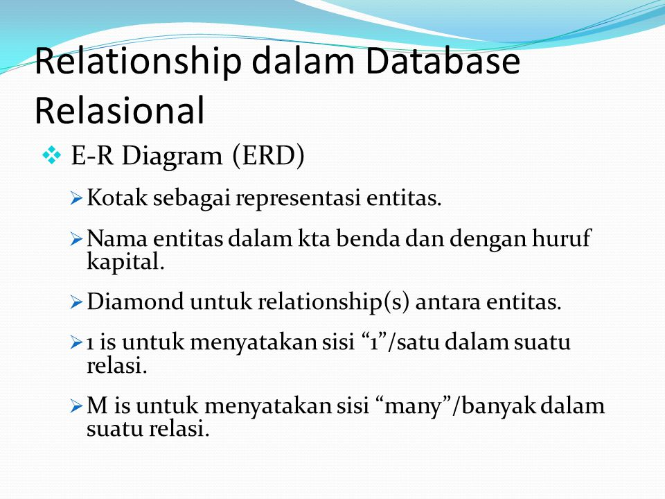 Relationship dalam Database Relasional