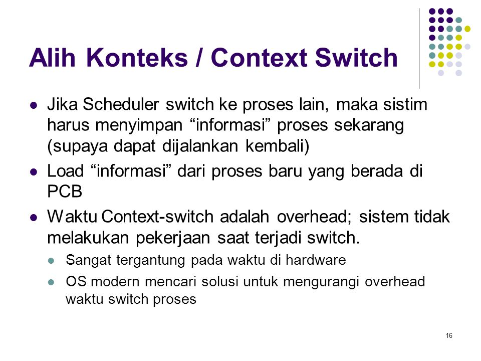 Alih Konteks / Context Switch