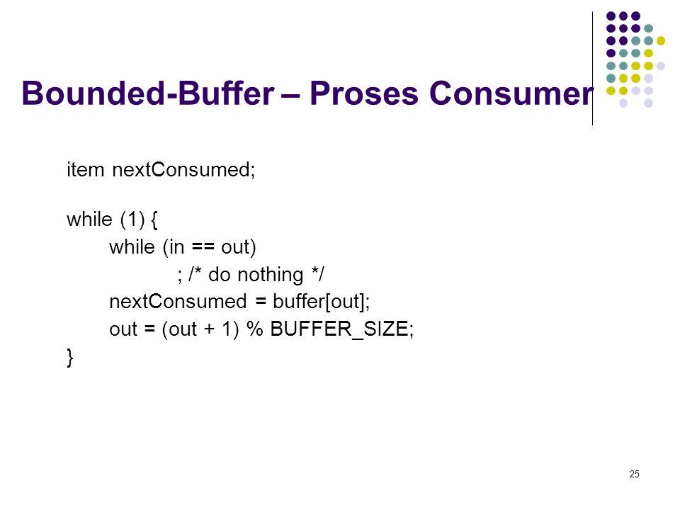 Bounded-Buffer – Proses Consumer