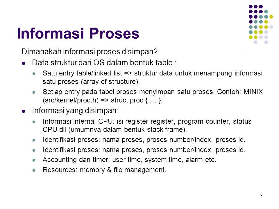 Informasi Proses Dimanakah informasi proses disimpan