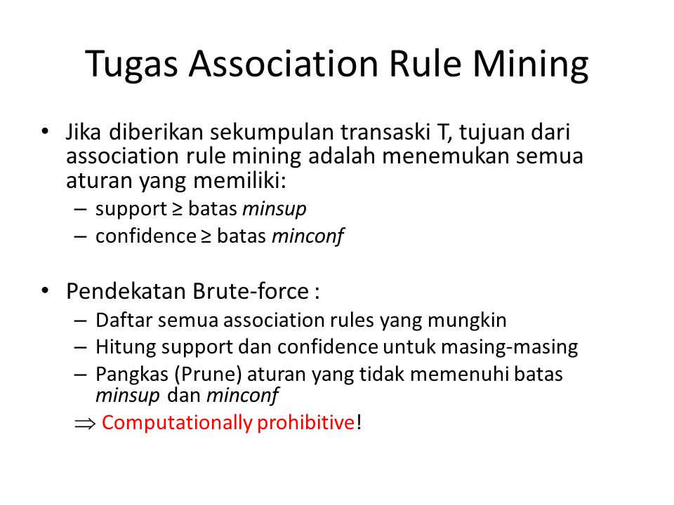 Tugas Association Rule Mining