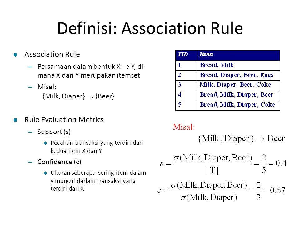 Definisi: Association Rule