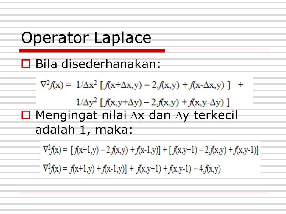 Operator Laplace Bila disederhanakan: