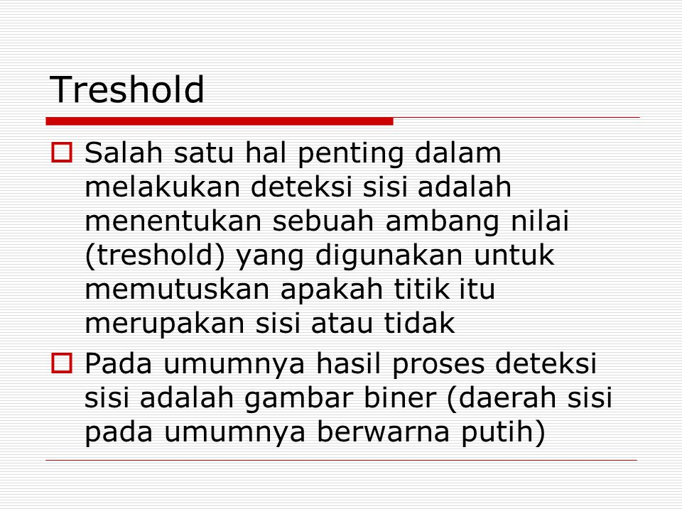 Treshold