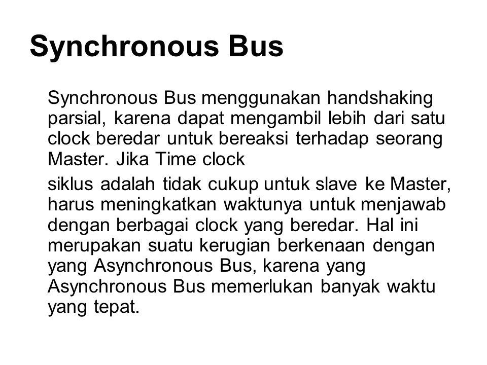 Synchronous Bus