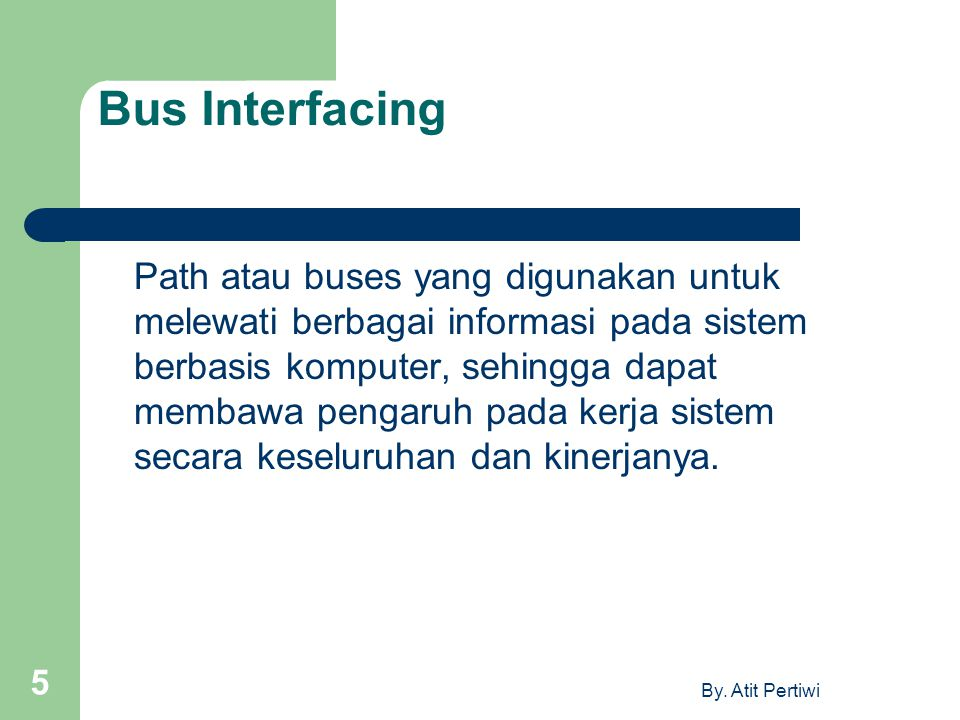 Bus Interfacing