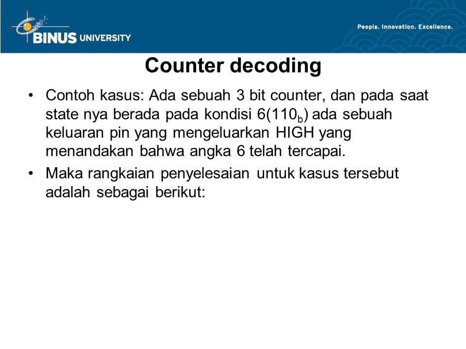 Counter decoding