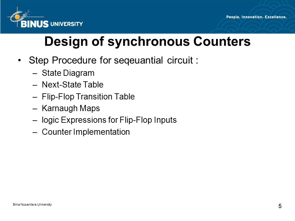 Design of synchronous Counters