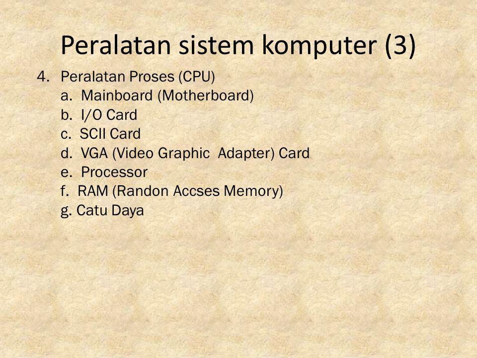 Peralatan sistem komputer (3)