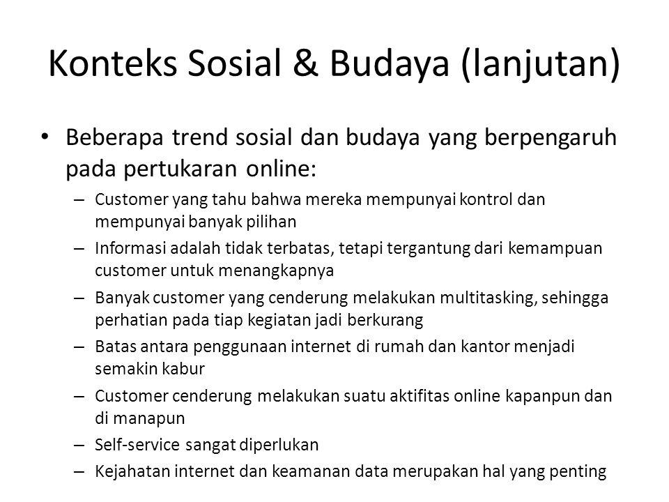 Konteks Sosial & Budaya (lanjutan)
