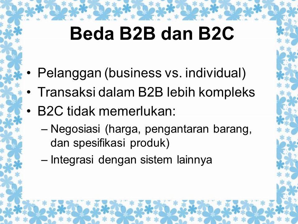 Beda B2B dan B2C Pelanggan (business vs. individual)