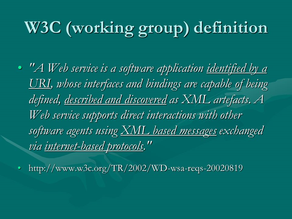 W3C (working group) definition