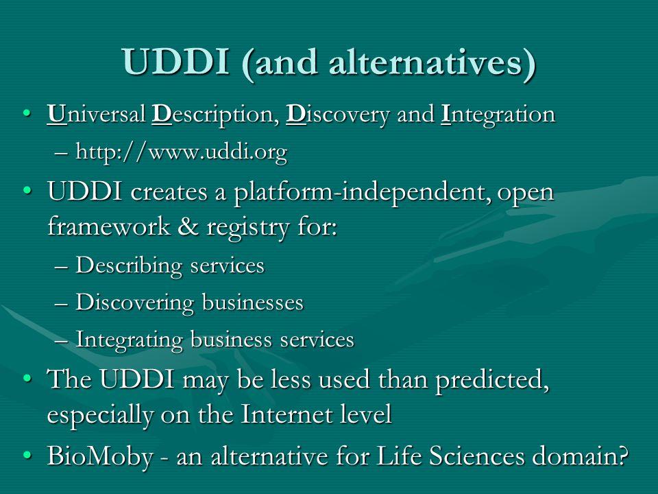 UDDI (and alternatives)