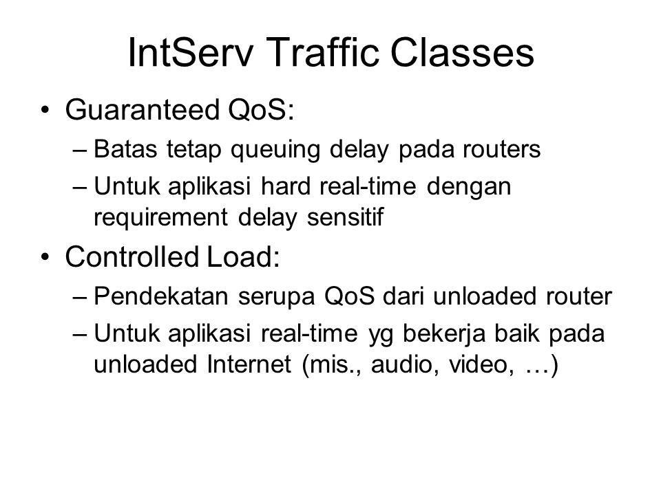 IntServ Traffic Classes