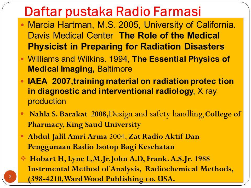 Daftar pustaka Radio Farmasi