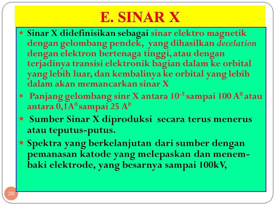 E. SINAR X