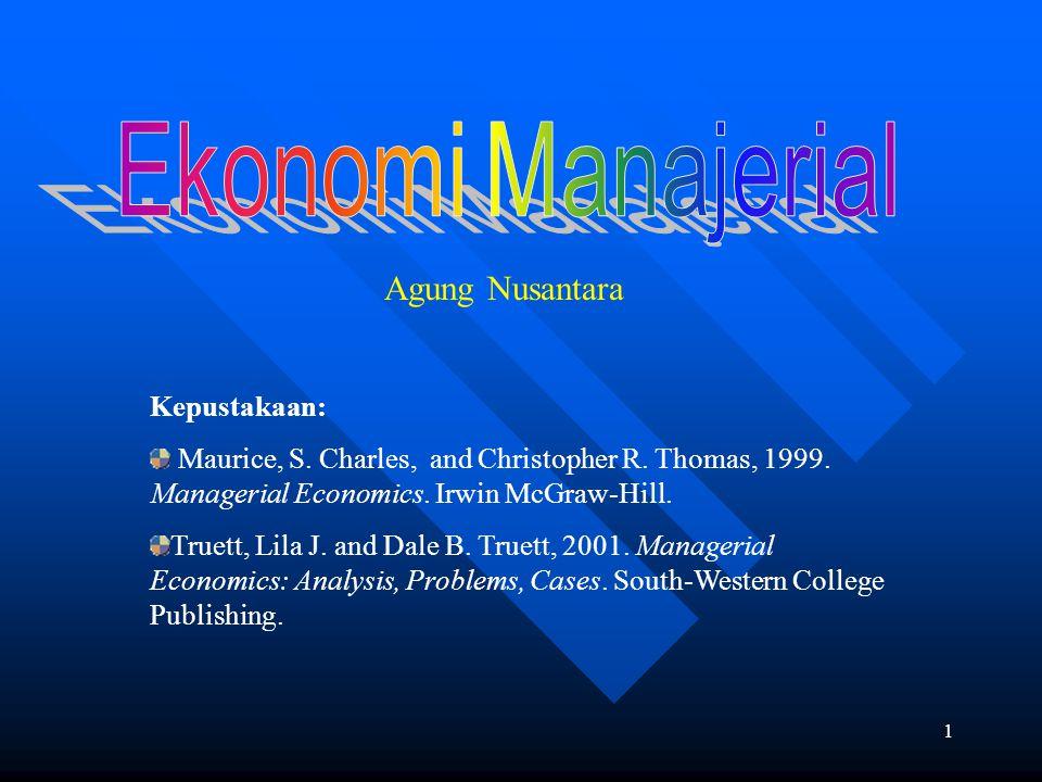 Agung Nusantara Ekonomi Manajerial Kepustakaan: