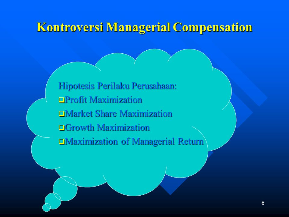 Kontroversi Managerial Compensation