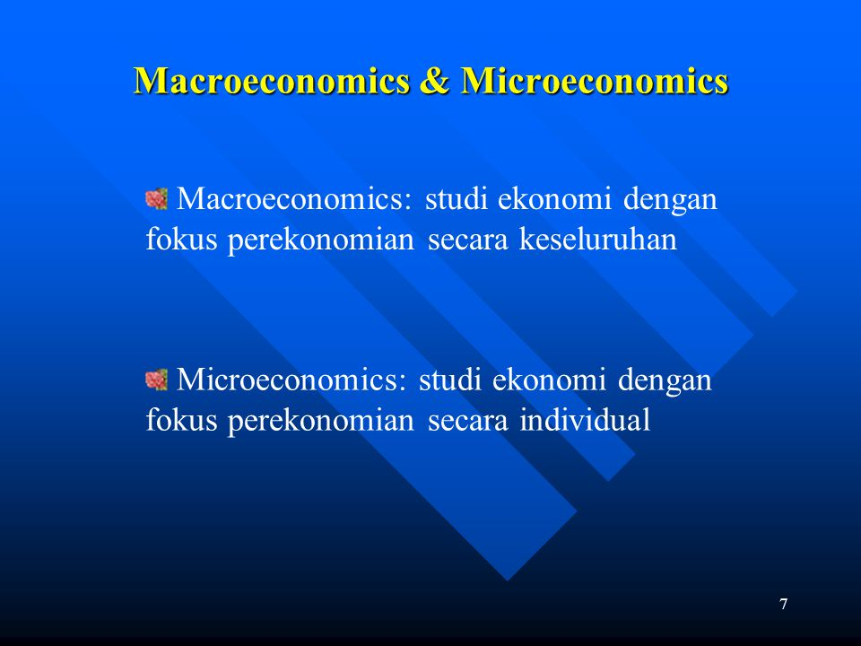 Macroeconomics & Microeconomics