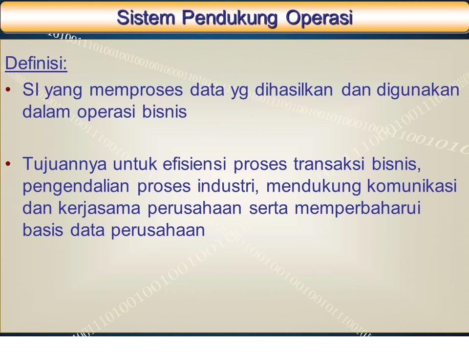 Sistem Pendukung Operasi