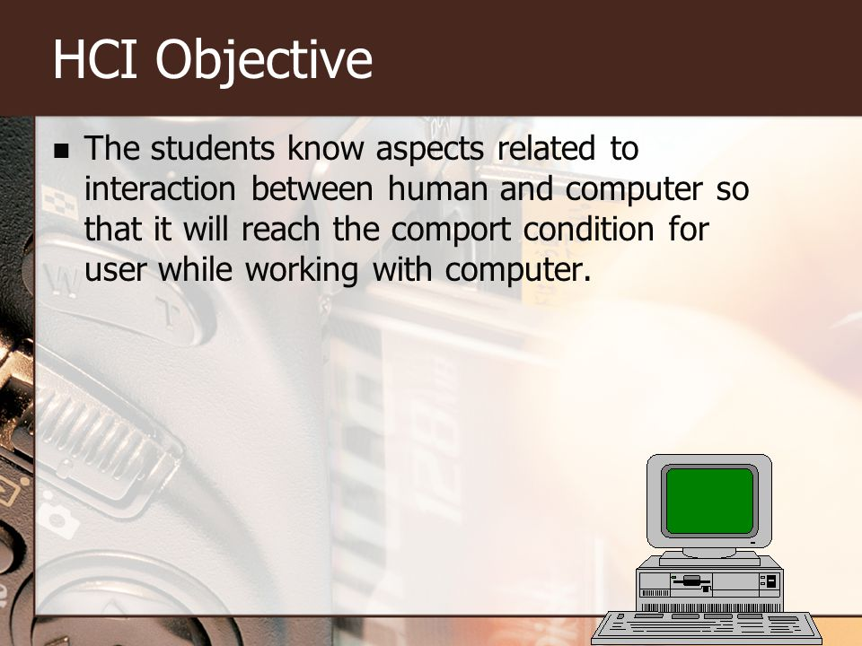 HCI Objective