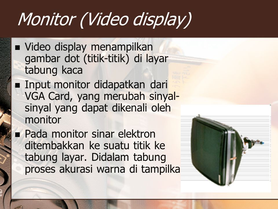 Monitor (Video display)