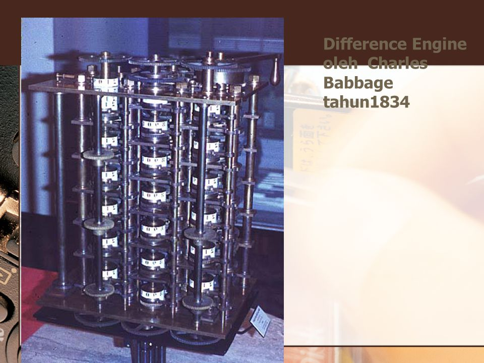 Difference Engine oleh Charles Babbage tahun1834