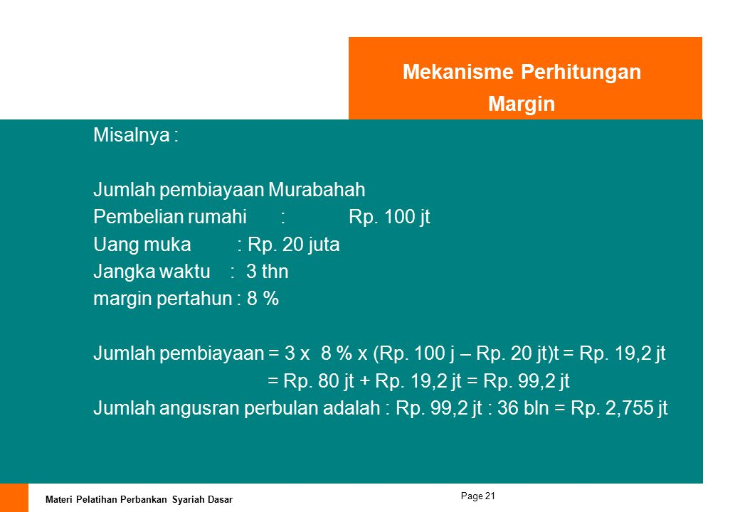 Mekanisme Perhitungan Margin