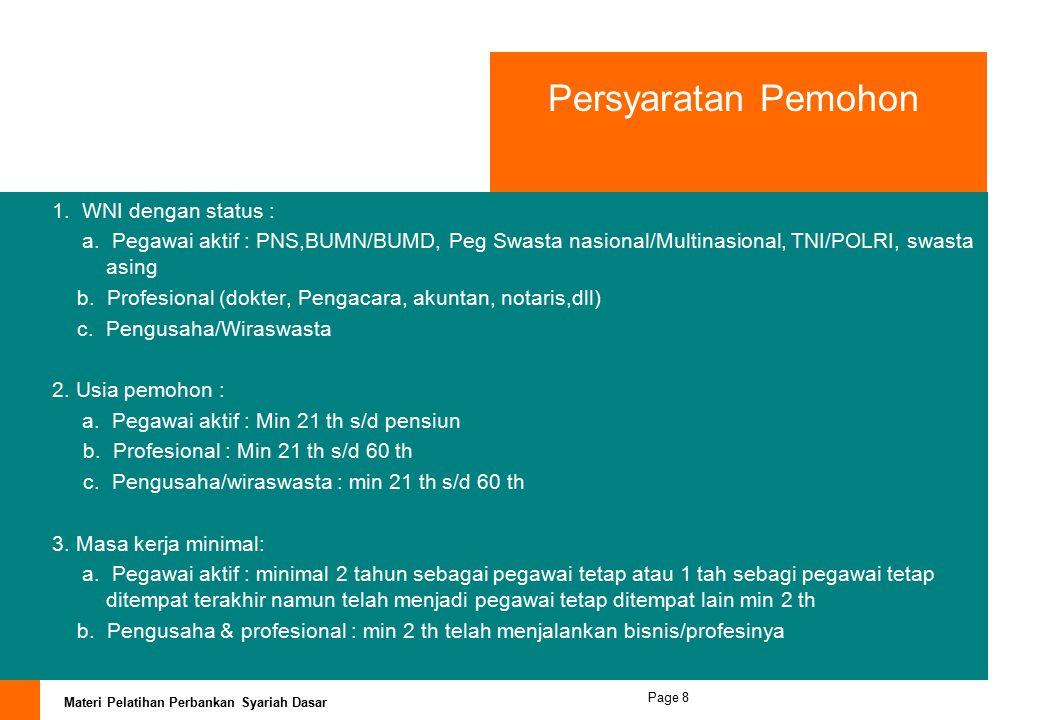 Persyaratan Pemohon WNI dengan status :