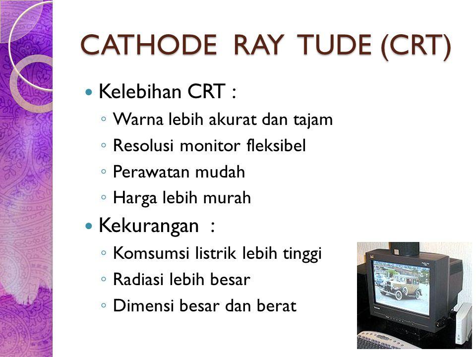 CATHODE RAY TUDE (CRT) Kelebihan CRT : Kekurangan :