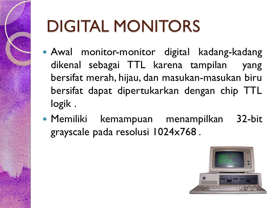 DIGITAL MONITORS