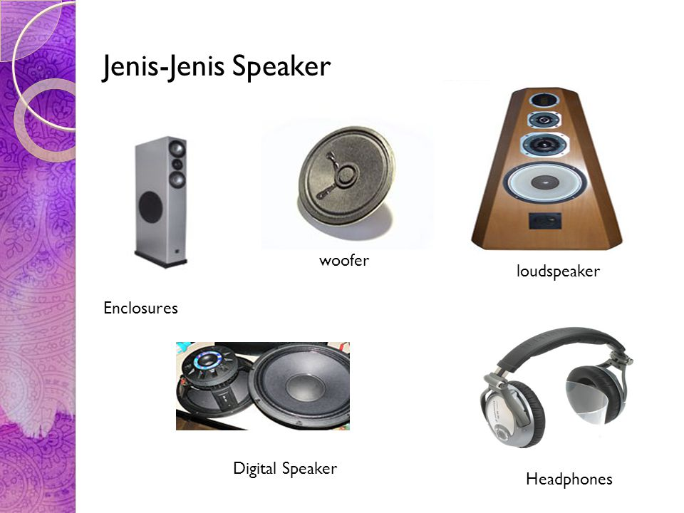 Jenis-Jenis Speaker woofer loudspeaker Enclosures Digital Speaker