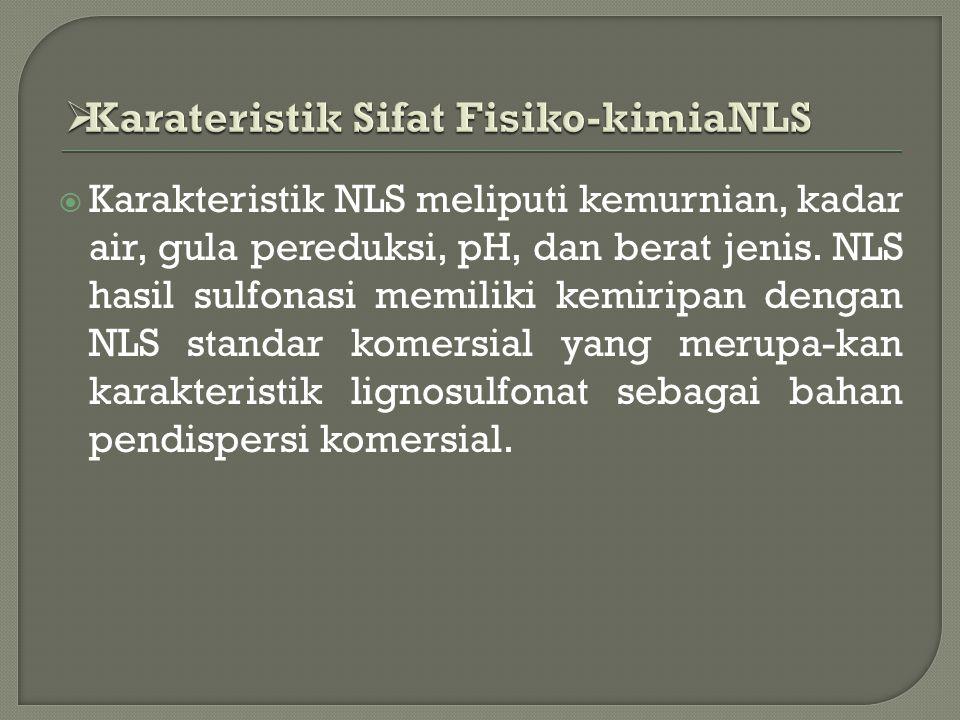 Karateristik Sifat Fisiko-kimiaNLS