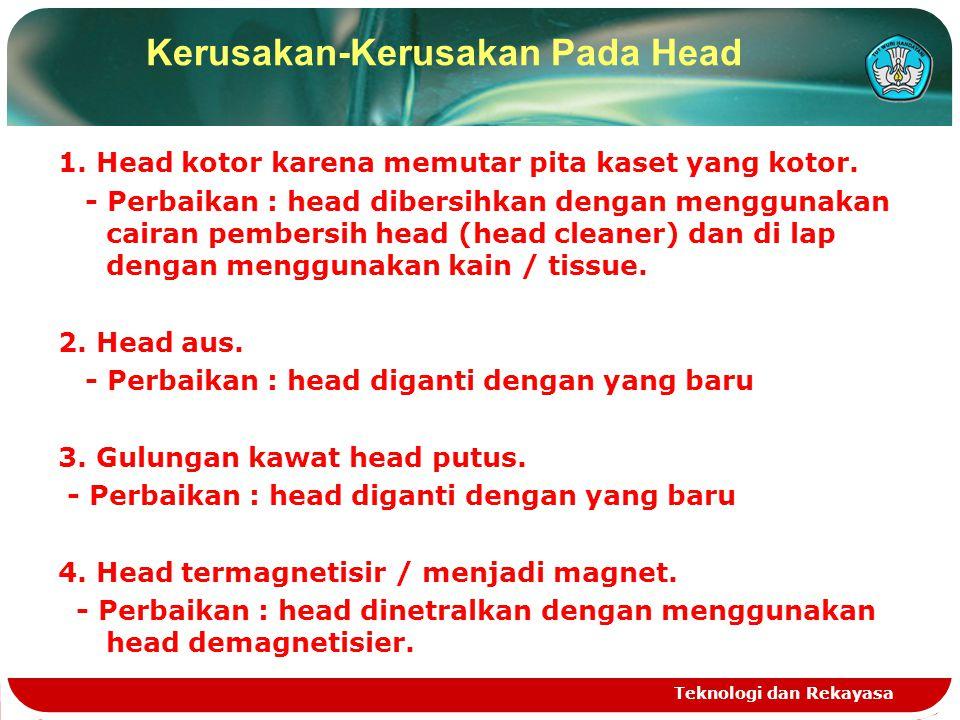 Kerusakan-Kerusakan Pada Head