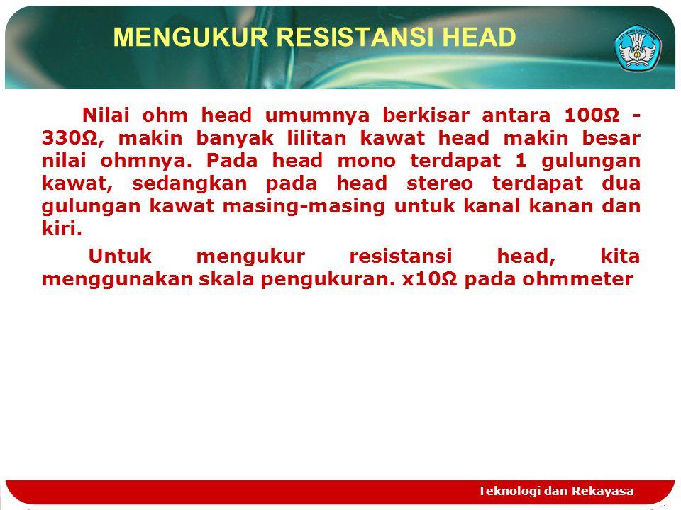 MENGUKUR RESISTANSI HEAD