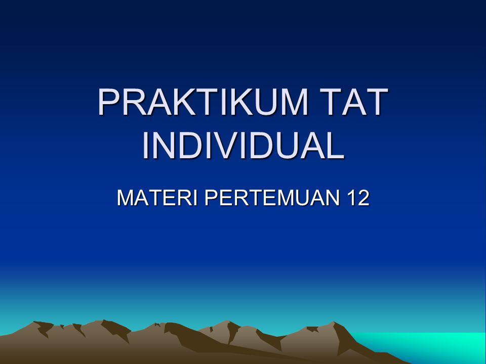 PRAKTIKUM TAT INDIVIDUAL