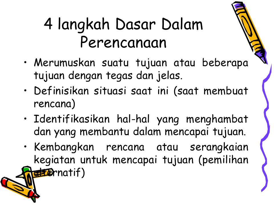 4 langkah Dasar Dalam Perencanaan