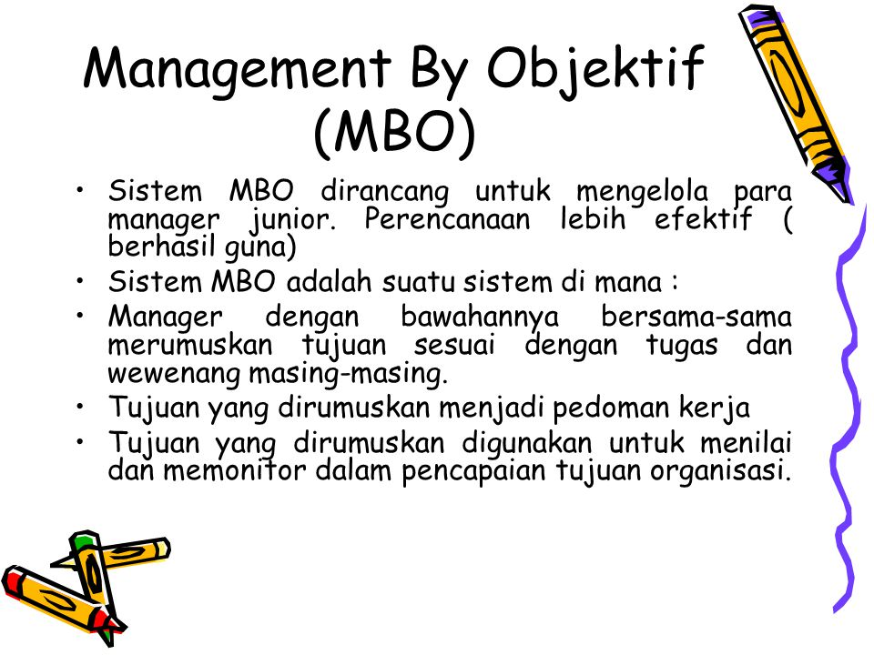 Management By Objektif (MBO)
