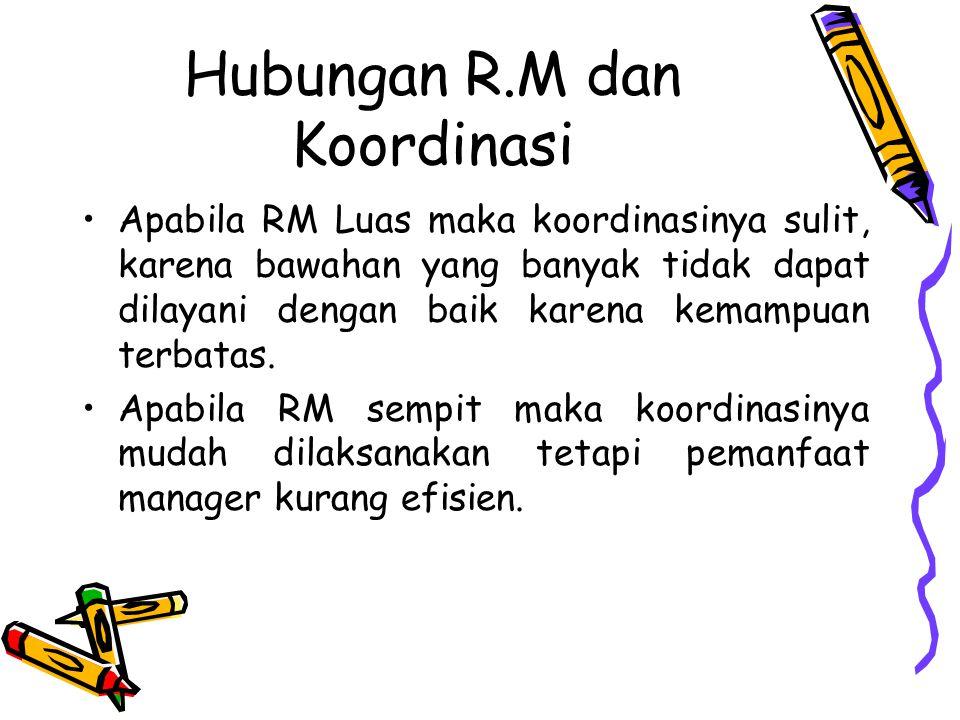 Hubungan R.M dan Koordinasi