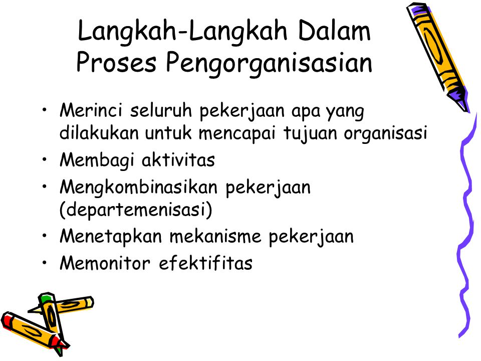 Langkah-Langkah Dalam Proses Pengorganisasian