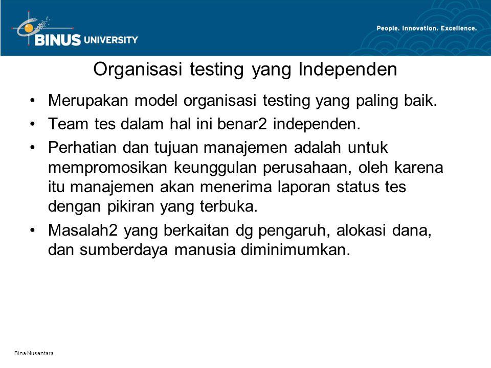 Organisasi testing yang Independen