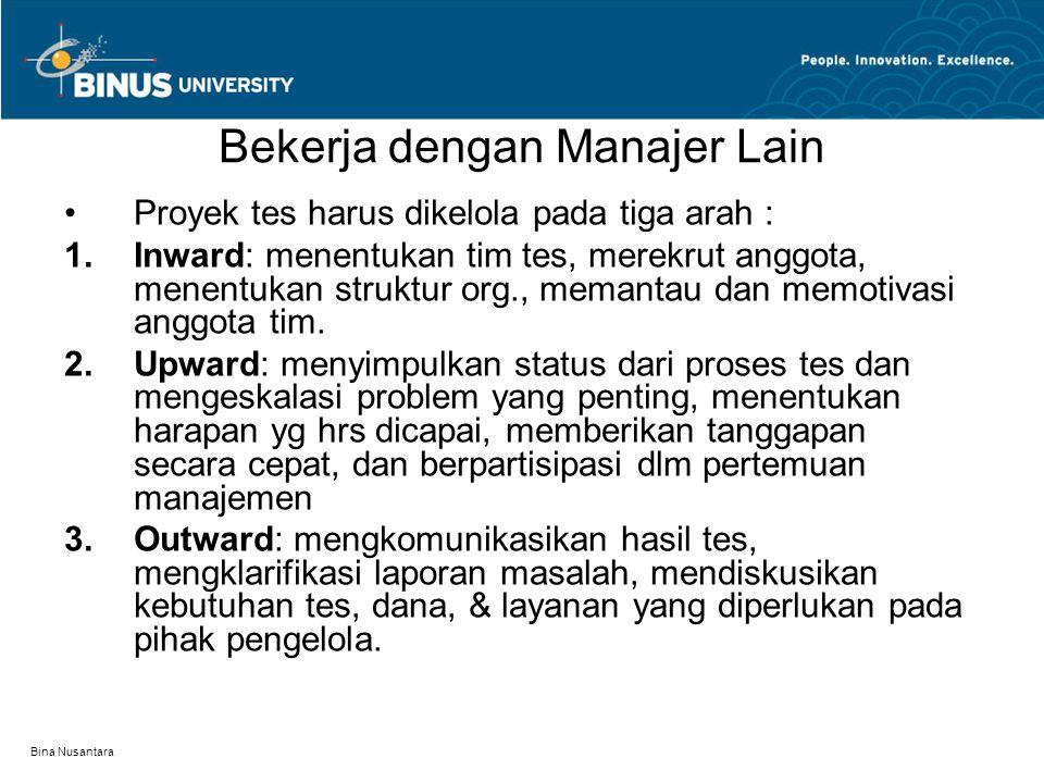 Bekerja dengan Manajer Lain