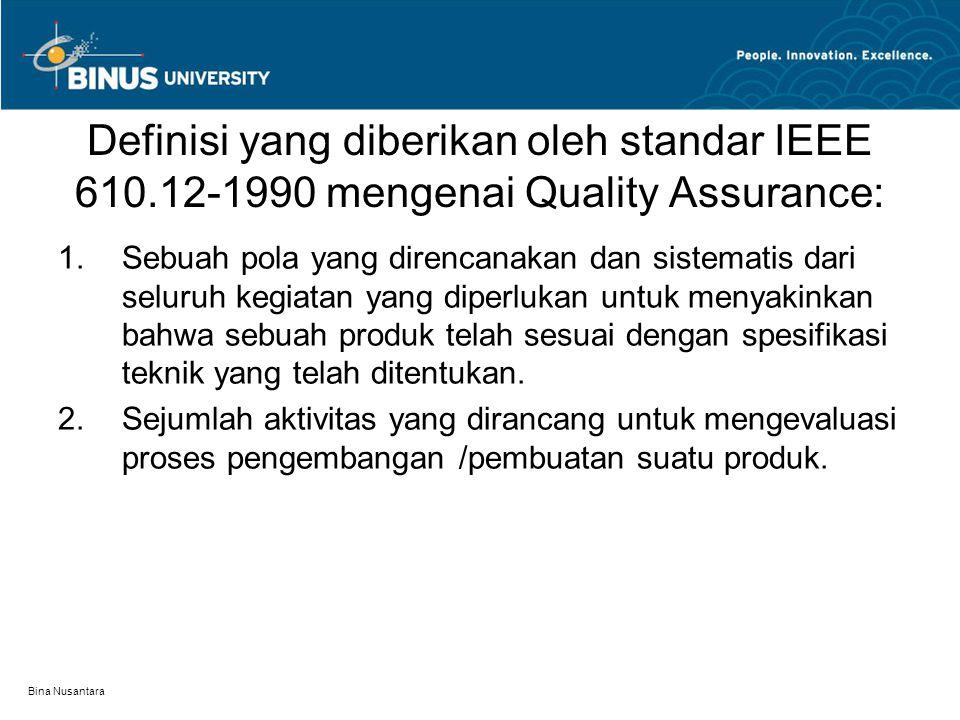 Definisi yang diberikan oleh standar IEEE 610
