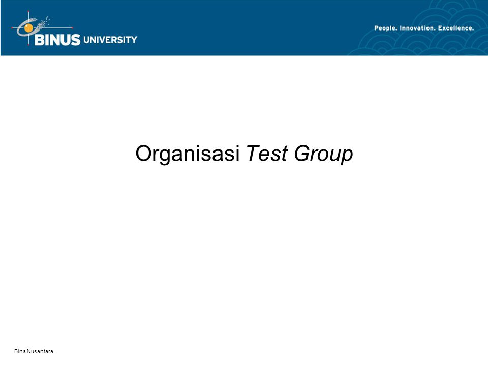 Organisasi Test Group Bina Nusantara