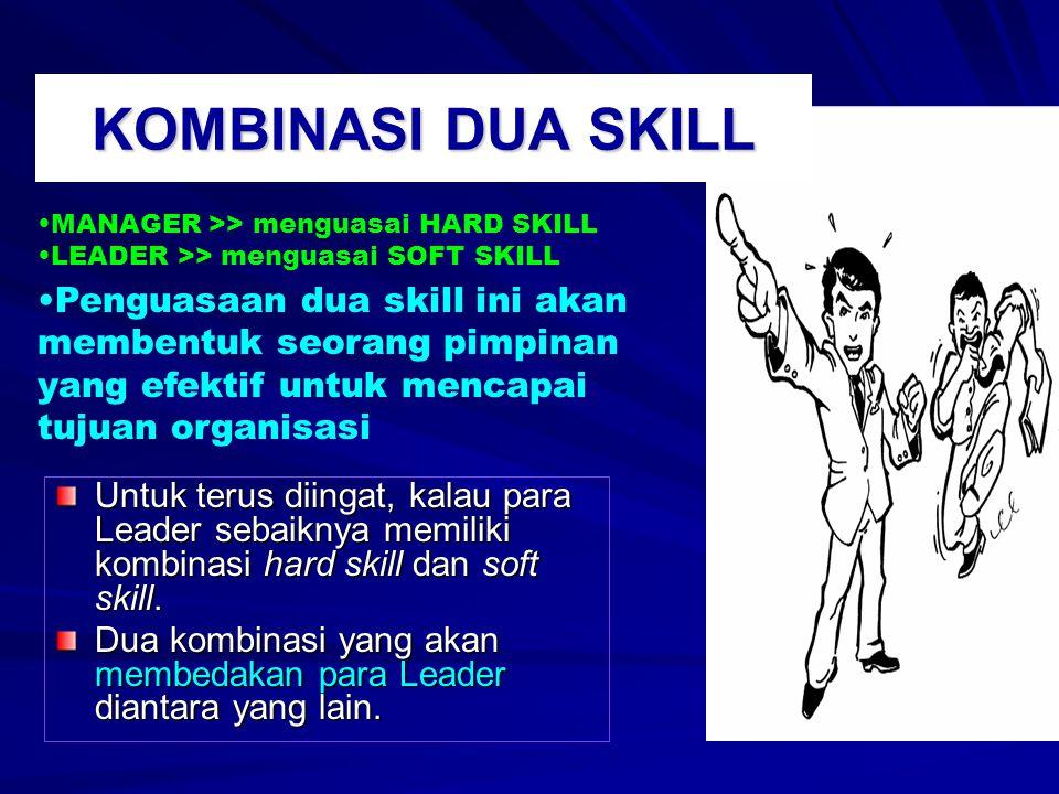 KOMBINASI DUA SKILL Penguasaan dua skill ini akan