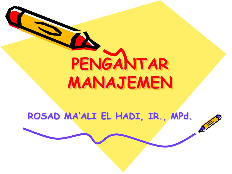 ROSAD MA'ALI EL HADI, IR., MPd.