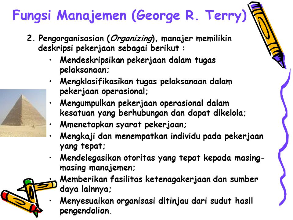 Fungsi Manajemen (George R. Terry)